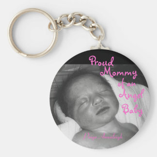 Proud Mommy of an Angel Baby Basic Round Button Key Ring