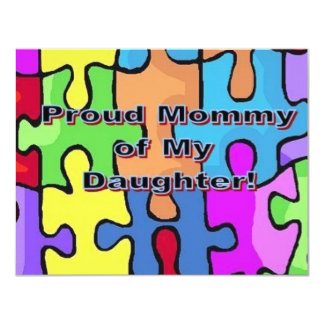 Proud Mommy of My Daughter 11 Cm X 14 Cm Invitation Card