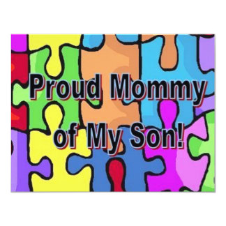 Proud Mommy of My Son 11 Cm X 14 Cm Invitation Card