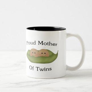 Proud Mother Of Twins Two-Tone Coffee Mug