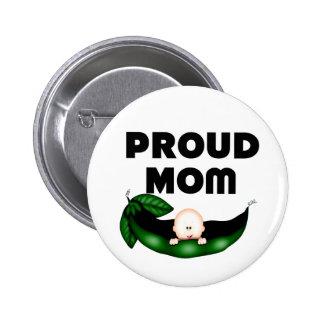 Proud Mum (Peapod) Button