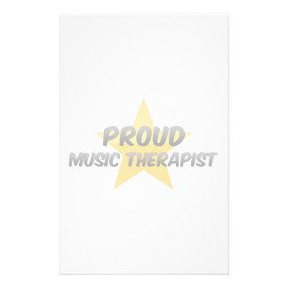 Proud Music Therapist Customized Stationery