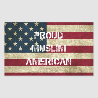 Proud Muslim American Sticker