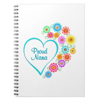 Proud Nana Heart Notebook