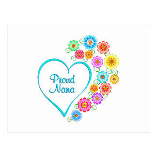 Proud Nana Heart Postcard