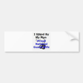 Proud National Guard Wife Bumper Sticker