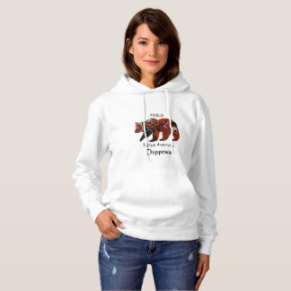 Proud Native American Chippewa Brave Bear Hoodie