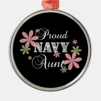 Proud Navy Aunt [fl c] Metal Ornament