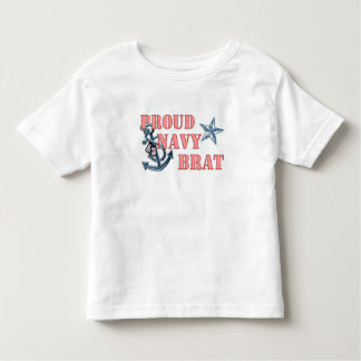 Proud Navy Brat anchor Toddler T-Shirt