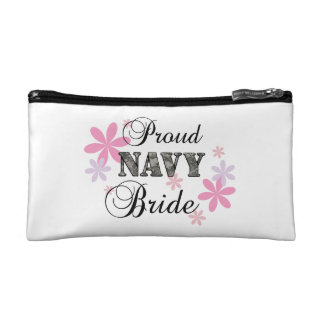 Proud Navy Bride [fl c] Cosmetics Bags