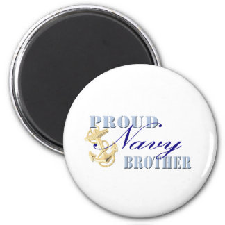 Proud Navy Brother Fridge Magnets