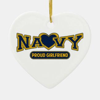 Proud Navy Girlfriend Christmas Ornaments