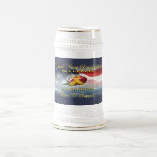Proud Navy Grandmother Beer Steins