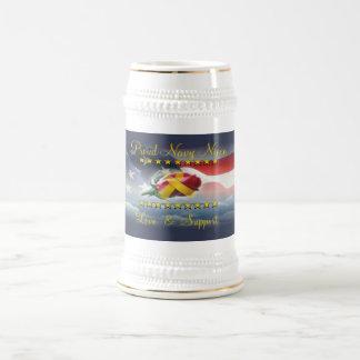 Proud Navy Niece Beer Steins