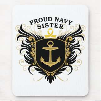 Proud Navy Sister Mouse Pad