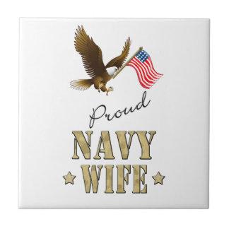Proud Navy Wife - Eagle & Flag Tiles