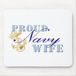 Proud Navy Wife Mouse Pads