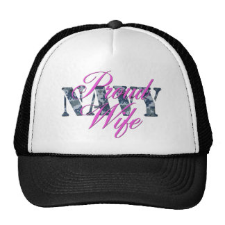 proud navy wife NWU Trucker Hat