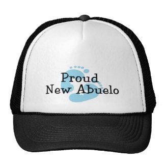 Proud New Abuelo Baby Boy Footprints Trucker Hats