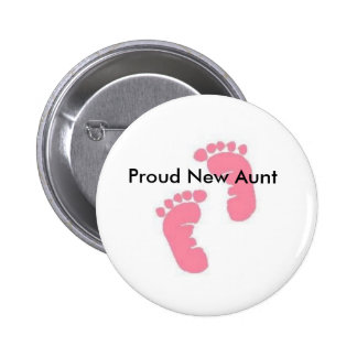 Proud New Aunt 6 Cm Round Badge