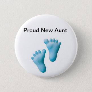 Proud New Aunt 6 Cm Round Badge