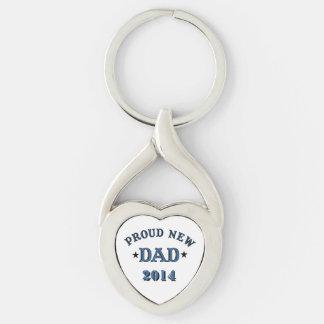 Proud New Dad Keychain