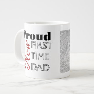 Proud New Dad Photo Jumbo Mug
