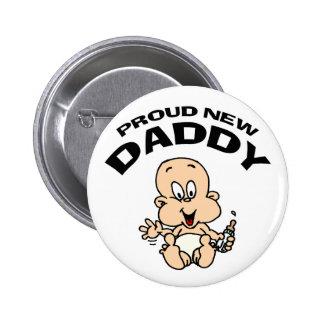 Proud New Daddy 6 Cm Round Badge