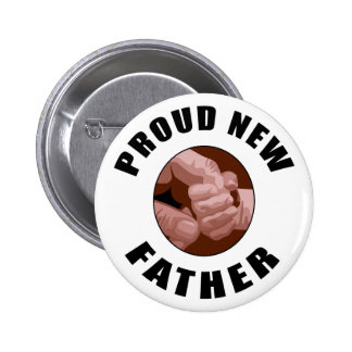 Proud New Father Gift 6 Cm Round Badge