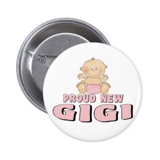 PROUD NEW Gigi T-Shirt 6 Cm Round Badge