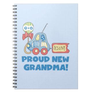Proud New Grandma It's a Boy Gifts Notebooks