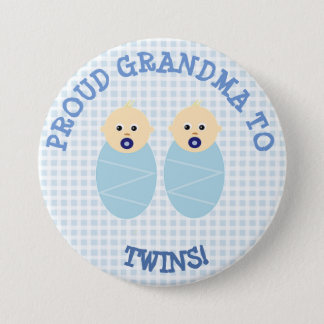 Proud new grandma to twins Button