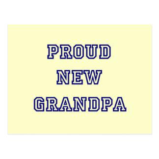 Proud New Grandpa-University Text Tshirts Postcard