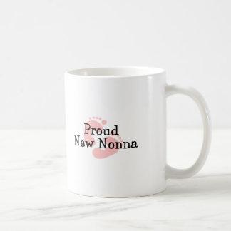 Proud New Nonna Baby Girl Footprints Coffee Mugs