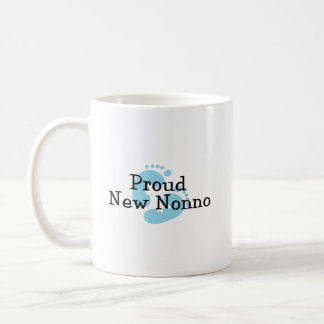 Proud New Nonno Baby Boy Footprints Coffee Mug