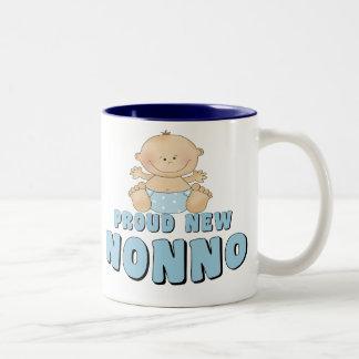PROUD NEW Nonno Boy Two-Tone Coffee Mug