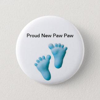 Proud New Paw Paw 6 Cm Round Badge