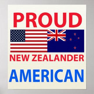 Proud New Zealander American Poster