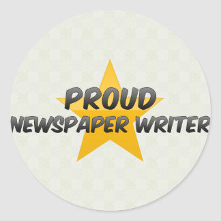 Proud Newspaper Writer Sticker