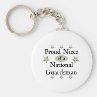 Proud Niece of a National Guardsman Key Ring