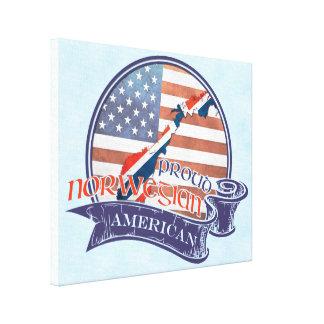 Proud Norwegian American Box Canvas