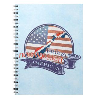 Proud Norwegian American Notepad Notebooks