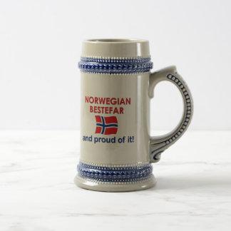 Proud Norwegian Bestefar (grandfather) Beer Steins