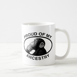 Proud Of My Ancestry Chimp Basic White Mug