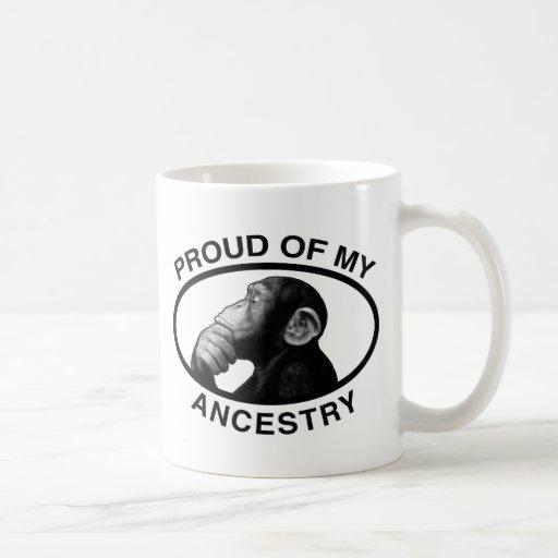 Proud Of My Ancestry Chimp Mugs