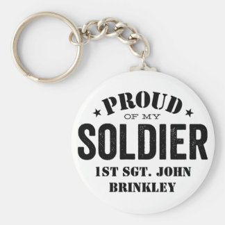 Proud of my Army SOLDIER Basic Round Button Key Ring