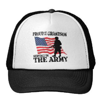 Proud of My Grandson Trucker Hats