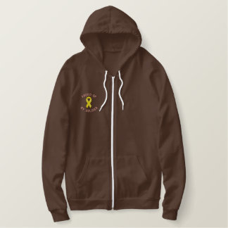 Proud of my soldier embroidered hoodie