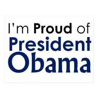 Proud of President Obama Postcards