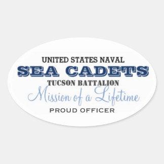 Proud Officer Oval Sticker
